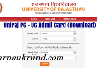 Uniraj Admit Card download