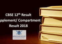 CBSE 12th Compartment Result 2018